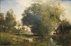 French Landscape | Alfred Wahlberg | Oil Painting