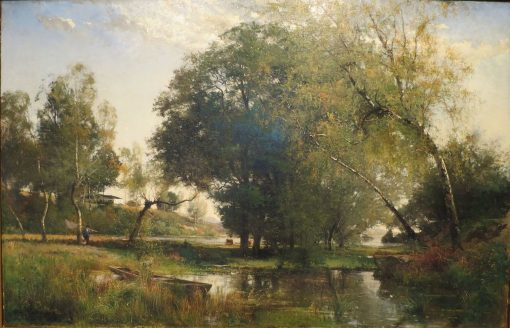 French Landscape   Alfred Wahlberg   Oil Painting