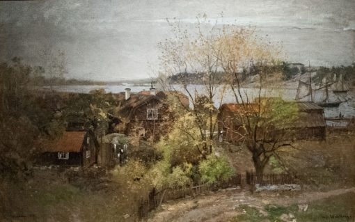 View near Vaxholm | Alfred Wahlberg | Oil Painting