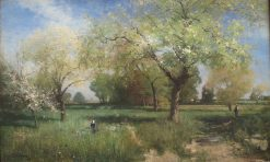 Orchard in Spring | Alfred Wahlberg | Oil Painting