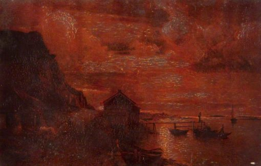 Mondshein   Alfred Wahlberg   Oil Painting