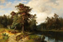Landscape   Alfred Wahlberg   Oil Painting