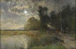 Evening by the Lake | Alfred Wahlberg | Oil Painting