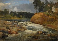 Landscape with a Stream | Alfred Wahlberg | Oil Painting