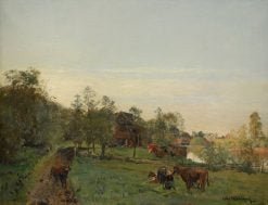 Summer Landscape with Cows | Alfred Wahlberg | Oil Painting