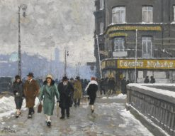 A Winter Street | Paul-Gustave Fischer | Oil Painting