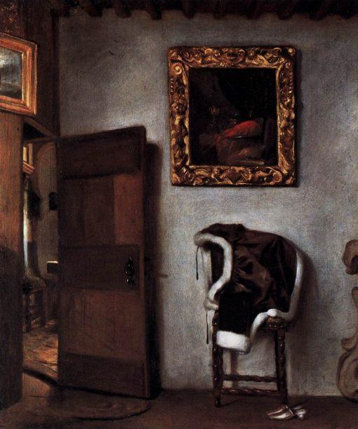 Dutch Interior   Hendrick van der Burgh   Oil Painting