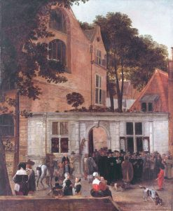 A Graduation Ceremony at Leiden University | Hendrick van der Burgh | Oil Painting