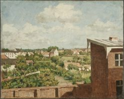 View from Dusseldorf | August Jernberg | Oil Painting