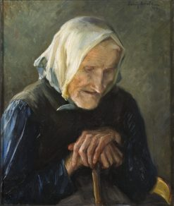 The Old Blind Woman | Fanny Brate | Oil Painting