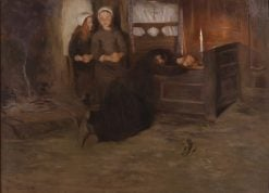 A Death-Bed in Brittany | Allan Osterlind | Oil Painting