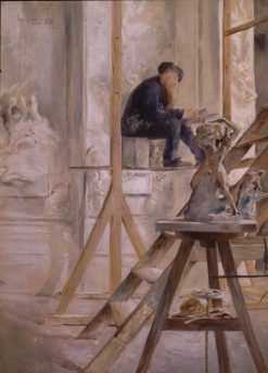 Rodin in His Studio | Allan Osterlind | Oil Painting