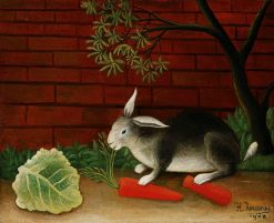 The Rabbits Meal | Henri Rousseau | Oil Painting