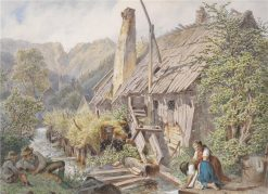 An Old Watermill | Carl Goebel | Oil Painting
