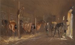 In the Stables | Carl Goebel | Oil Painting
