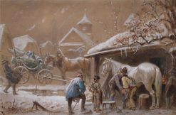 At the Smithy | Carl Goebel | Oil Painting