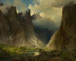 Valley of Romsdalen   Johan Fredrik Eckersberg   Oil Painting