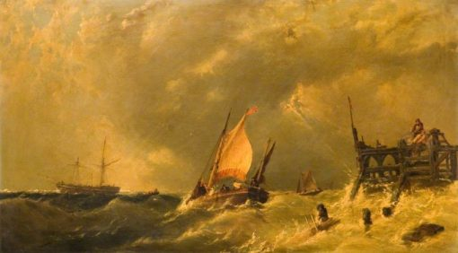 The Storm   James Edwin Meadows   Oil Painting