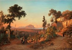 The Road from Pellegrino to Palermo | Gustaf Wilhelm Palm | Oil Painting