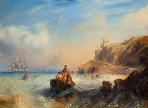 Ships by the coast | Theodore Gudin | Oil Painting