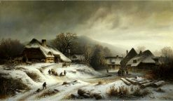 Village in Winter | Anton Doll | Oil Painting