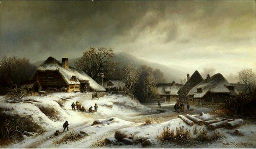Village in Winter | Anton Doll | Oil Painting