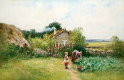 In the Vegetable Garden | Severin Nilson | Oil Painting