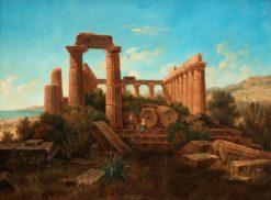 Juno Temple Ruins | Gustaf Wilhelm Palm | Oil Painting