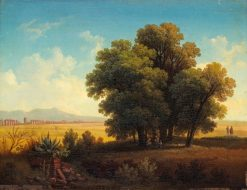 View in Roman Campagna | Gustaf Wilhelm Palm | Oil Painting