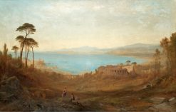 Italian landscape with ruins | Alfred Walter Williams | Oil Painting