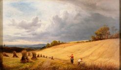 Cornfield with Reapers | Alfred Walter Williams | Oil Painting
