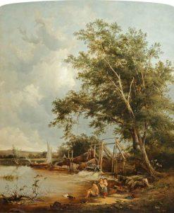 Eel Bucks at Goring | Alfred Walter Williams | Oil Painting
