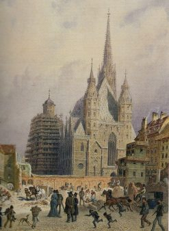 Demolierung der Brandstatte in Wien | Carl Goebel | Oil Painting