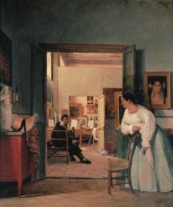 The Studio of Ingres in Rome | Jean Alaux | Oil Painting