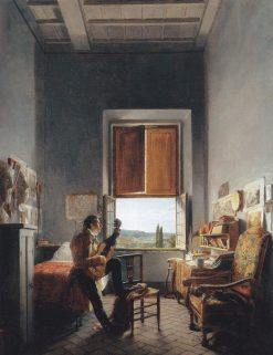 Louis Vincent Palliere in His Room at the Villa Medici | Jean Alaux | Oil Painting
