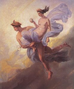 Pandora Carried off by Mercury | Jean Alaux | Oil Painting