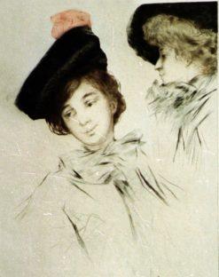 Women in Black Hats | Allan Osterlind | Oil Painting