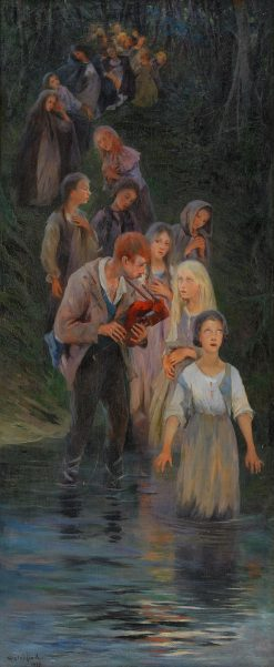 The Pied Piper | Allan Osterlind | Oil Painting