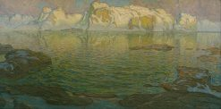 Silent Evening - Scene from Lofoten | Anna Boberg | Oil Painting