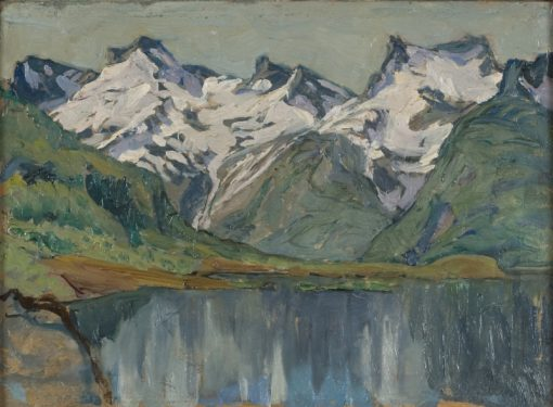 A Mountain Lake. Study from North Norway | Anna Boberg | Oil Painting