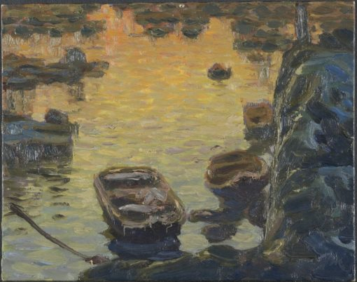 A Spring Night during the Fishing Season. Study from Lofoten   Anna Boberg   Oil Painting