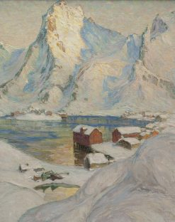 An Arctic Spring Day. Study from North Norway | Anna Boberg | Oil Painting