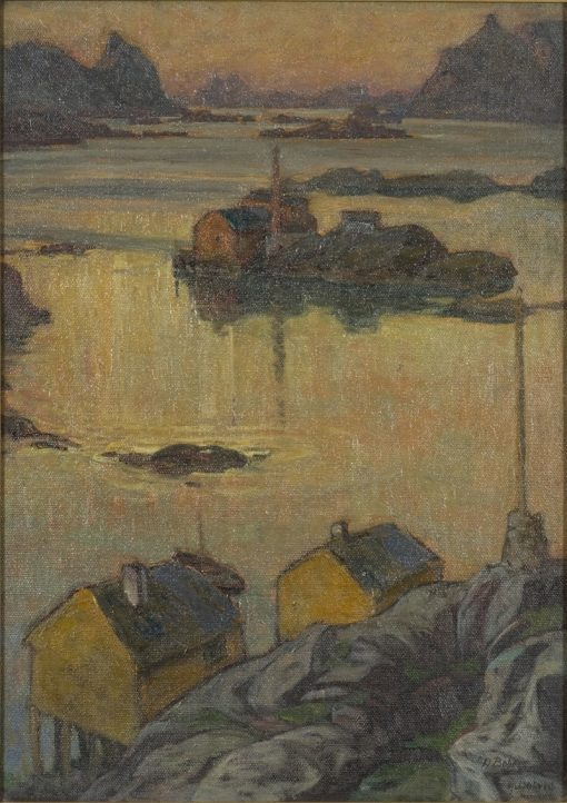 An August Night. Study from North Norway | Anna Boberg | Oil Painting