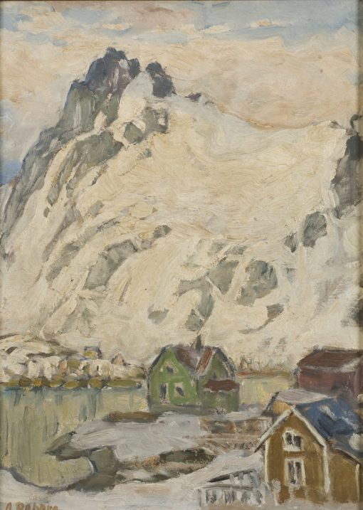 At the Foot of the Mountain. Study from Lofoten | Anna Boberg | Oil Painting