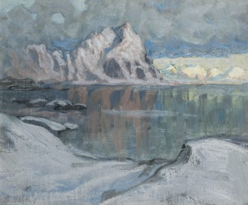Boats between the Mountains. Study from Lofoten | Anna Boberg | Oil Painting
