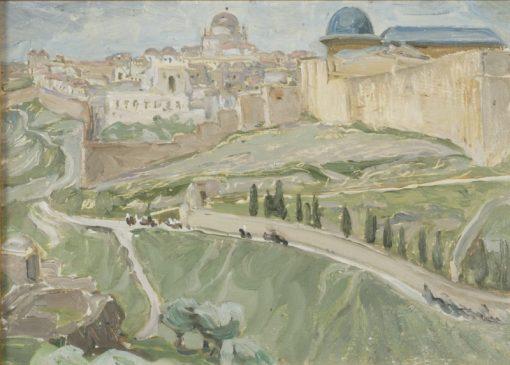 By Jerusalem. Study   Anna Boberg   Oil Painting