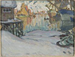 Svolvaer Harbour. Study from Lofoten | Anna Boberg | Oil Painting