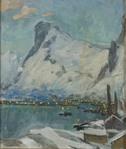 Lofoten in the Evening Light. Study | Anna Boberg | Oil Painting