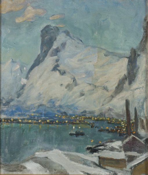 Lofoten in the Evening Light. Study | Anna Boberg | Oil Painting