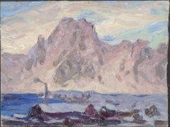 Lofoten in Violet. Study | Anna Boberg | Oil Painting